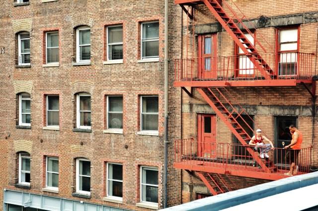 Fire escape hangout